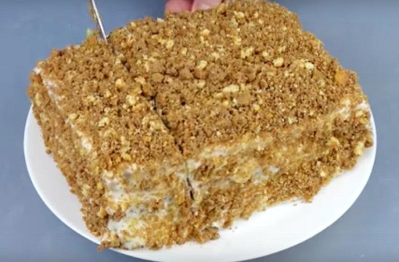 Как испечь вкусный тортик без возни к коржами!