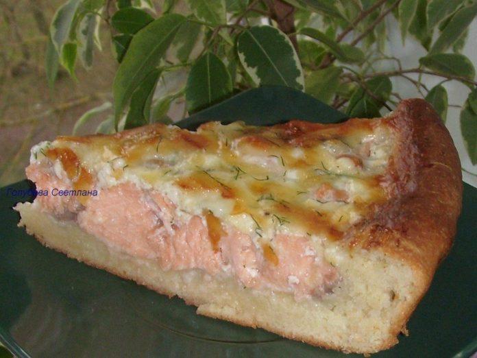 Открытый пирог с рыбой — пре…
