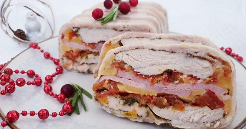 Оригинальная мясная закуска: отлично смотрится на праздничном столе