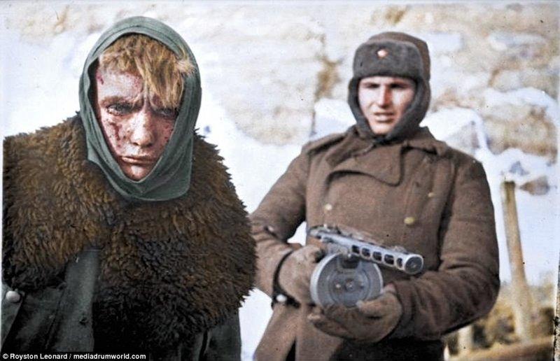 Цветные фото Сталинградской битвы