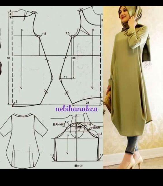 Выкройка платья для мусульманки