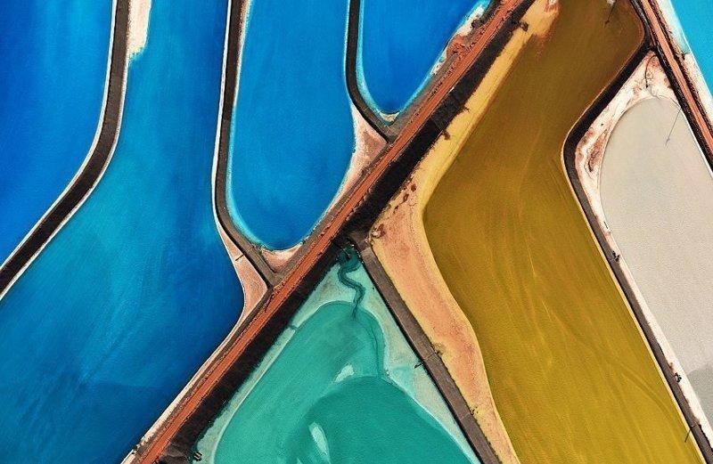 Испарительные калийные пруды в штате Юта америка, вид, высота, мир, пейзаж, природа, фотография