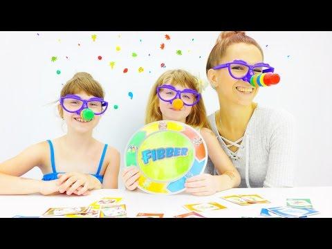 Игры для детей. Играем в Fibber. Наташа, Катя и Лена Капуки. Видео для детей.