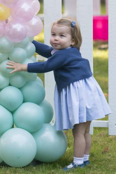 Принцесса Шарлотта на детском празднике
