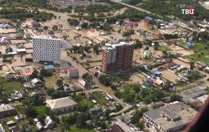 Вода в подтопленном Приморье пошла на спад