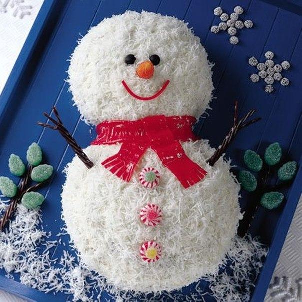 Украсить торт к новому году своими руками фото