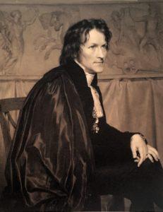 Бертель Торвальдсен в своей мастерской в Риме