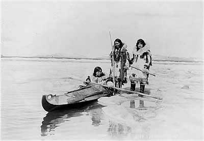 Охота в море, каяк, инуиты
