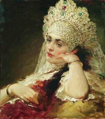 Боярышни Константина Маковского -  великолепная галерея русских красавиц