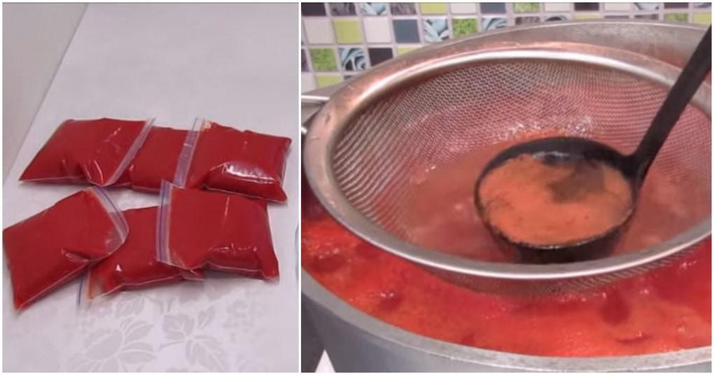Хитрый способ заготовки томата на зиму. Экономия денег и польза здоровью