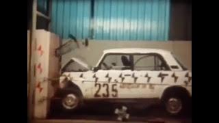 Краш-тест автомобилей СССР. Испытание на прочность Москивча, ЗАЗ 966 и ВАЗ 2105