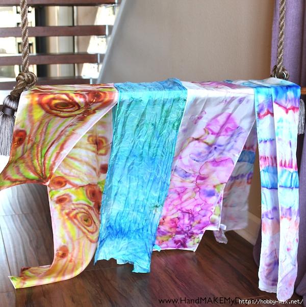 Необычная роспись ткани