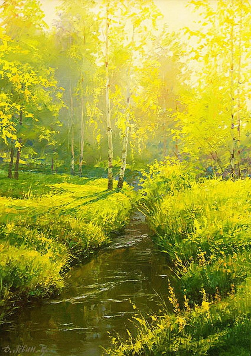 Красота русской деревни на картинах Дмитрия Лёвина