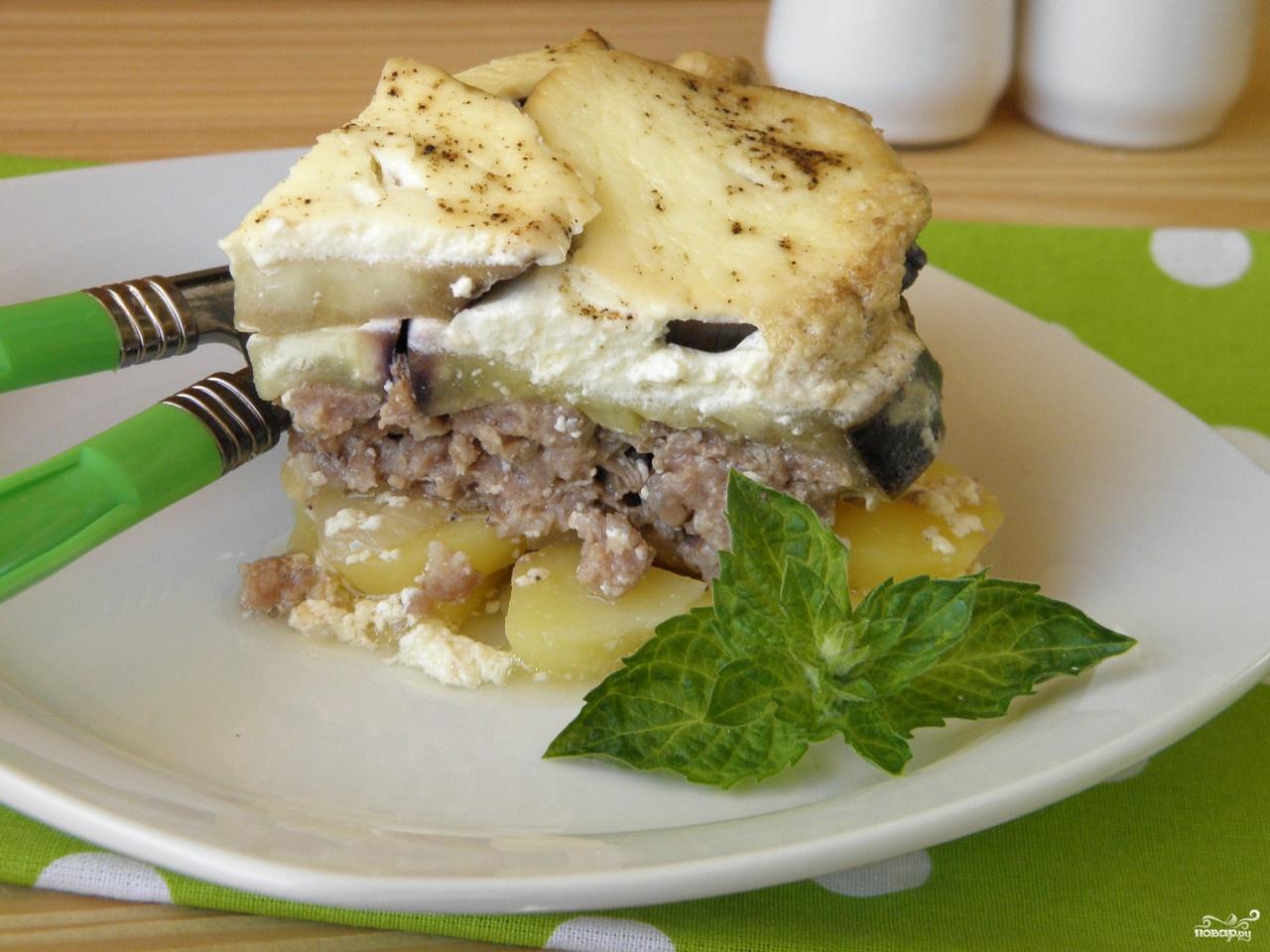 рецепт из баклажанов в духовке с картошкой