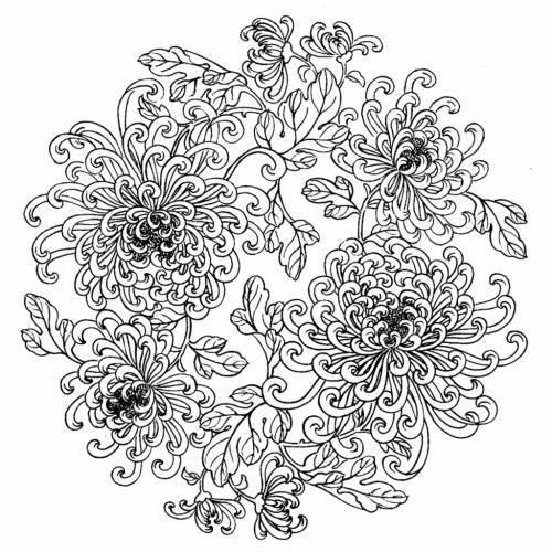 Узоры для росписи тарелочек (черно-белые)