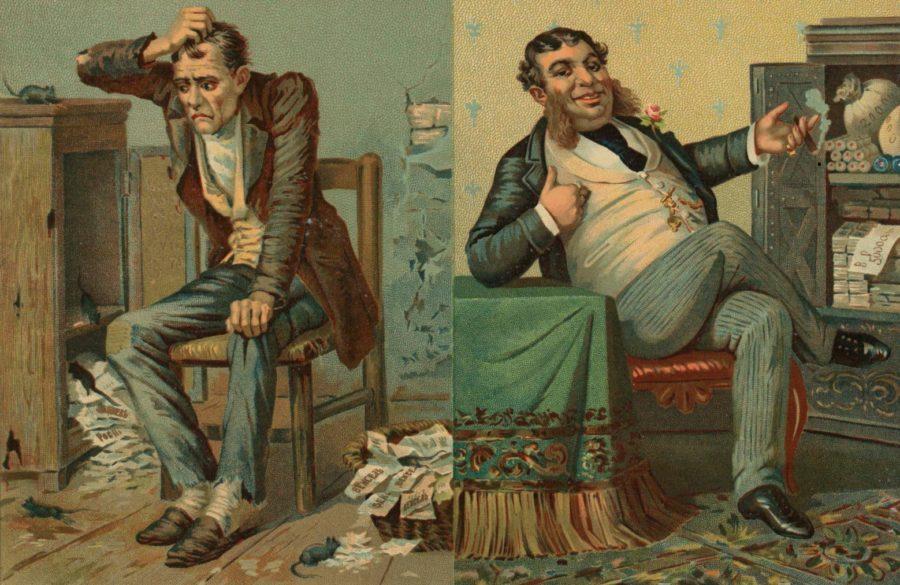 Портреты «бедного ректора» и «богатого ректора»
