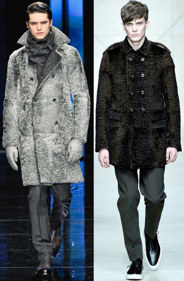 Новинки сезона для мужчин: куртки с меховой отделкой и шубы