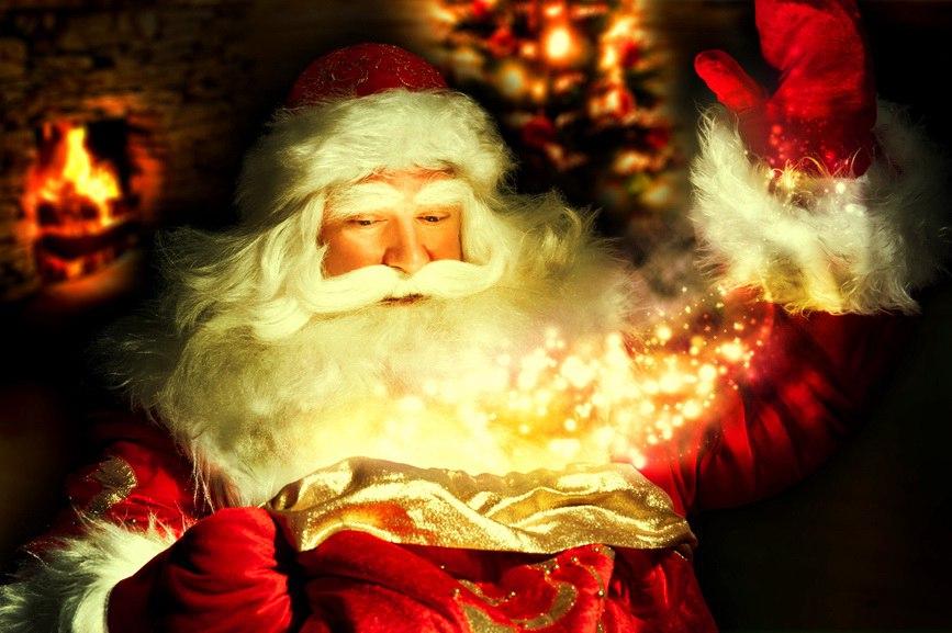 И снова Бог в плаще Мороза Деда...