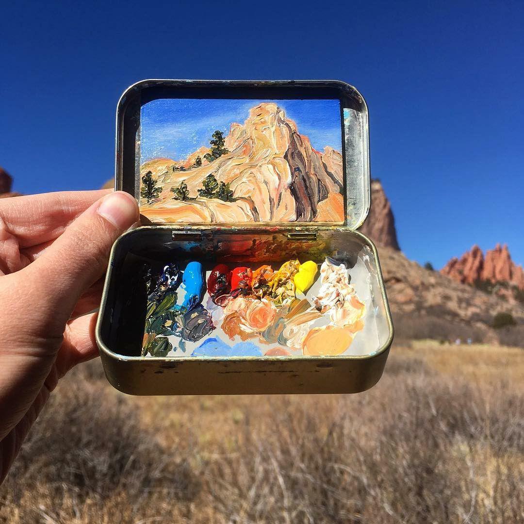 Карманная живопись: миниатюрные пейзажи Heidi Annalise