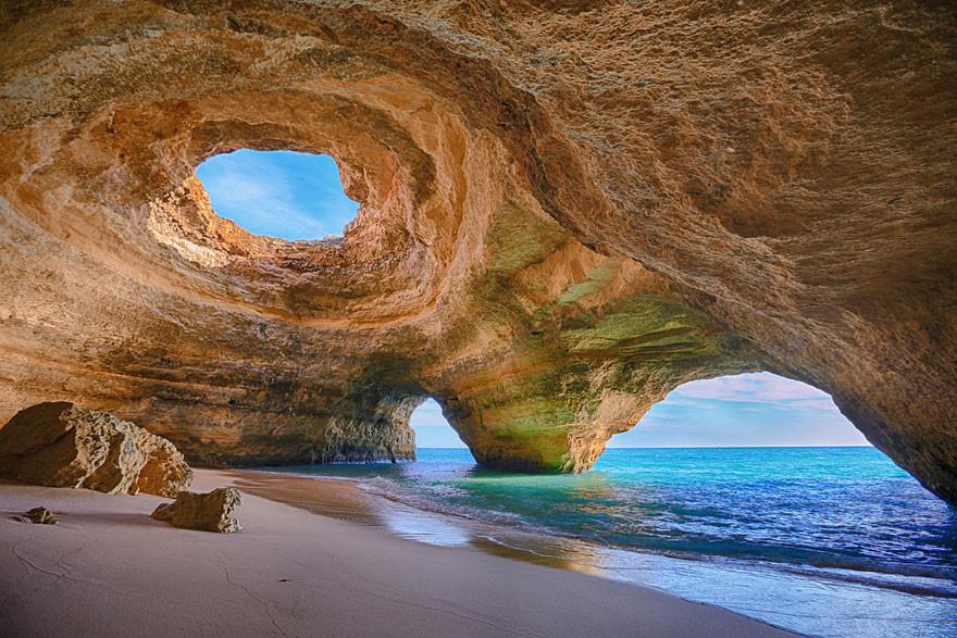 13. Пещера в Алгарве, Португалия земля, красота, планета, природа