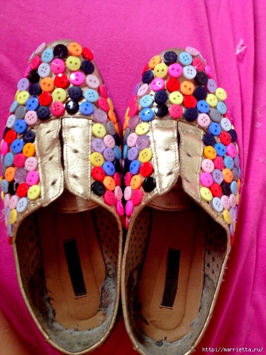 Пуговичные туфельки и другие идеи из пуговиц (21) (525x700, 323Kb)