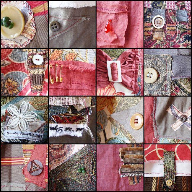 Шторы в стиле пэчворк можно декорировать пуговицами, булавками, бантиками и другими элементами
