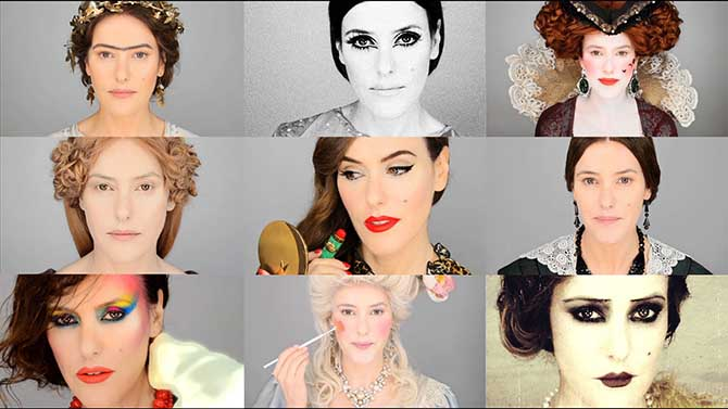 История макияжа за несколько минут