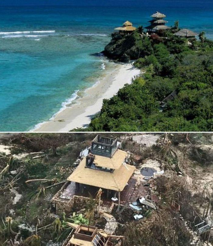 Миллиардер Ричард Брэнсон показал, что случилось с его домом после урагана