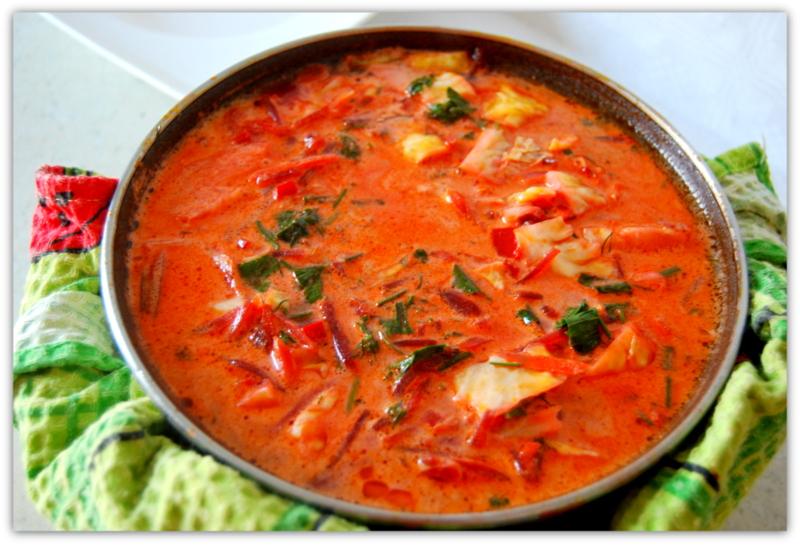 суп с капустой и помидорами