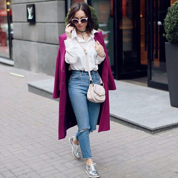 Как носить джинсы с высокой талией: пять модных идей