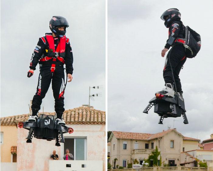 Создана реактивная летающая доска. Flyboard Air.