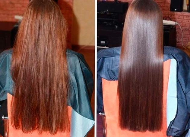 Кератиновое выпрямление рост волос