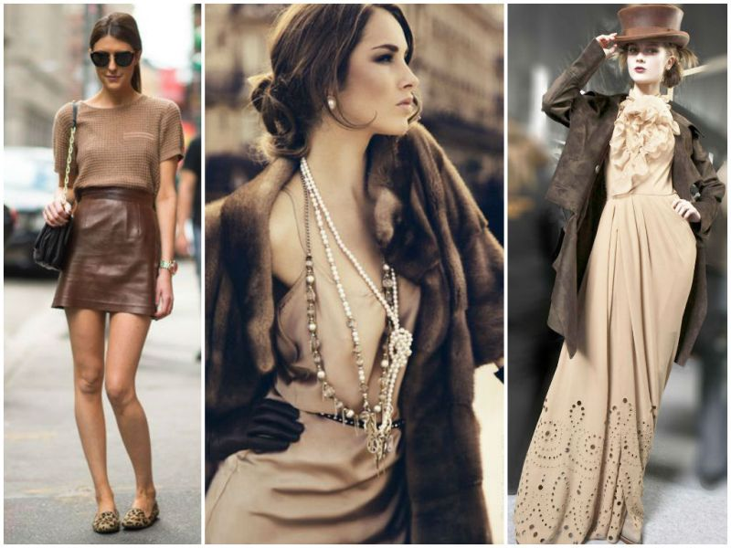 Бежевый цвет в одежде — сочетание теплоты и изящества