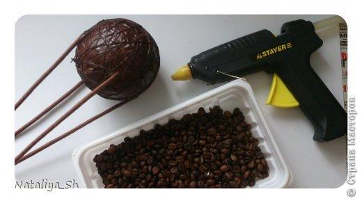Мастер-класс Поделка изделие Моделирование конструирование Воздушный кофе-шар МК Кофе Шпагат фото 14
