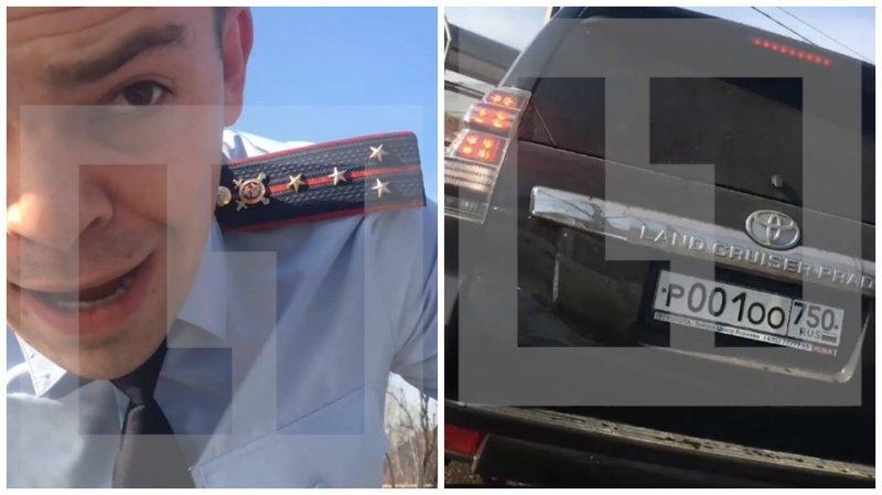 """Быдло в погонах. Офицер полиции наехал на водителя автомобиля """"Ока"""""""
