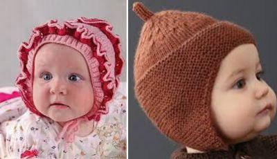 вязание шапочек для новорожденных детская шапочка для