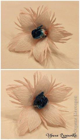 Мастер-класс Свит-дизайн Новый год Бумагопластика Моделирование конструирование Рафаэлкин Домик и Птичий цветок фото 25
