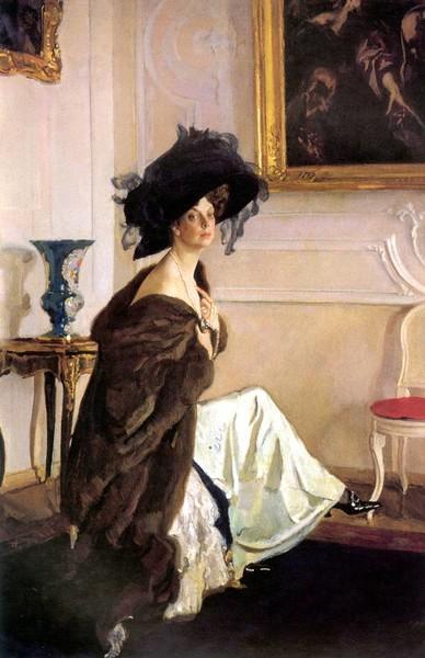 Портрет княгини Орловой кисти Серова — почему такую заметную роль на нем играет шляпа?