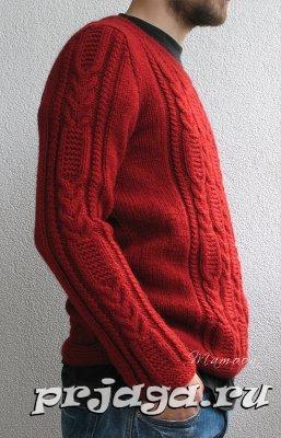 Красный пуловер для мужчин