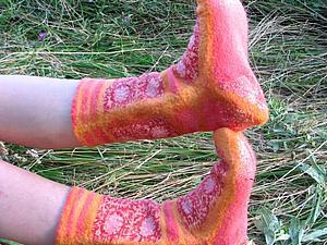Создаем уютные войлочные носочки | Ярмарка Мастеров - ручная работа, handmade