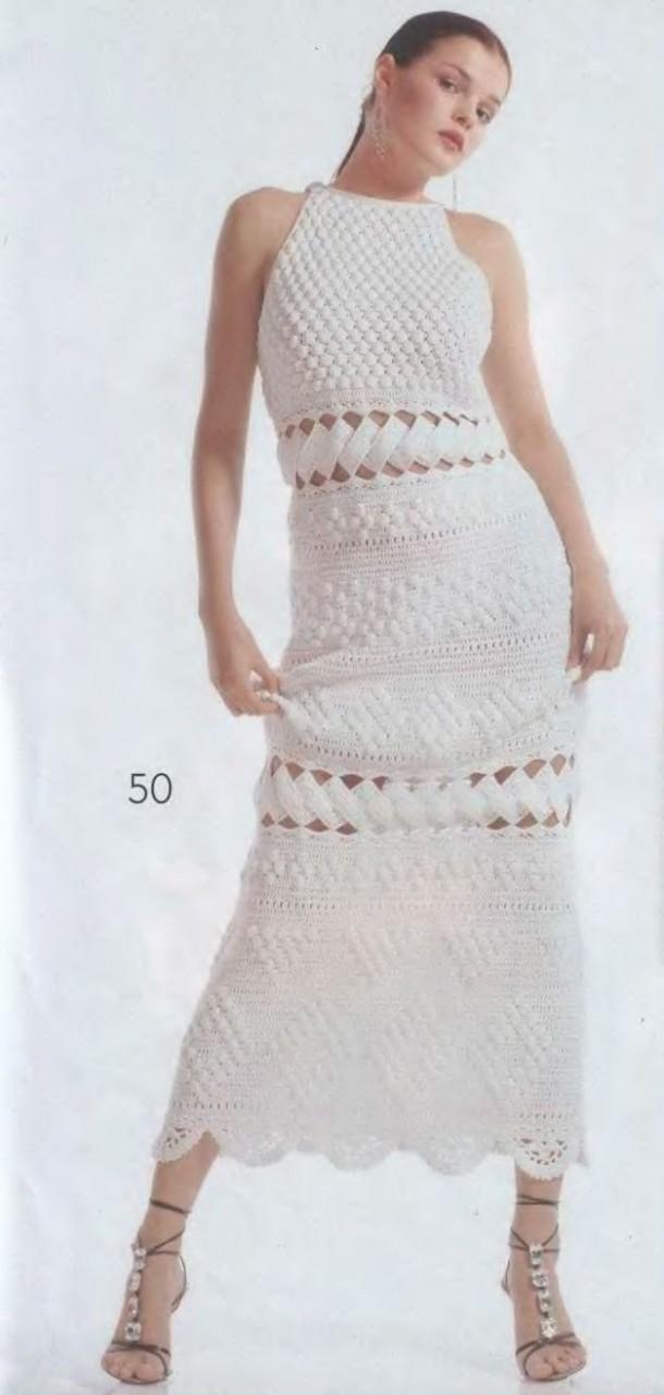 Эффектное ажурное платье крючком