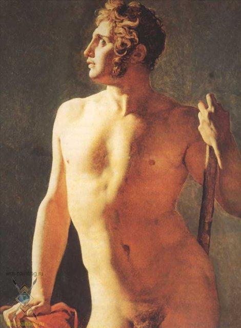 обнаженный мужчина картина