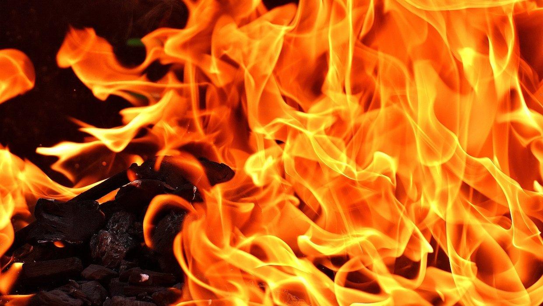 Сильный пожар произошел в мн…
