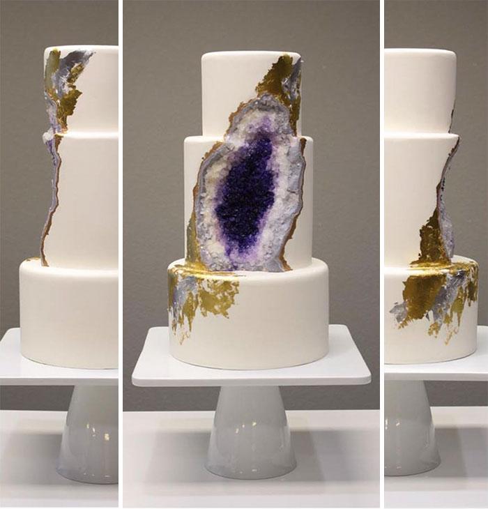 Торты-минералы или свадебный тренд, который взорвал Интернет