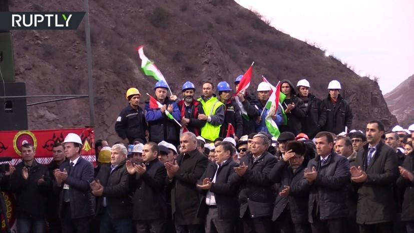 В Таджикистане запустили агрегат Рогунской ГЭС