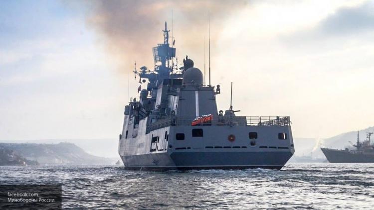 Противостояние началось: «Адмирал Григорович» против квартета эсминцев США