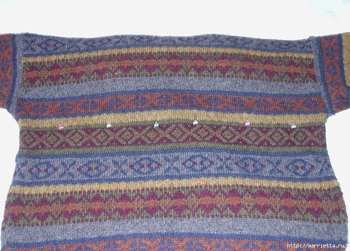 Cuna de gato de un viejo suéter.  Master Class (2) (700x502, 344KB)