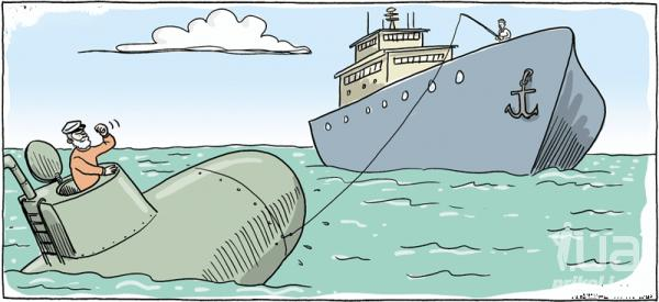 анекдоты про американскую и русскую подводную лодку