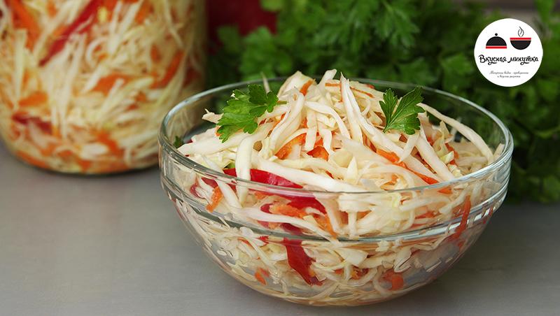 Быстрый салат из капусты с уксусом