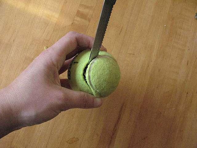 Теннисный мяч своими руками